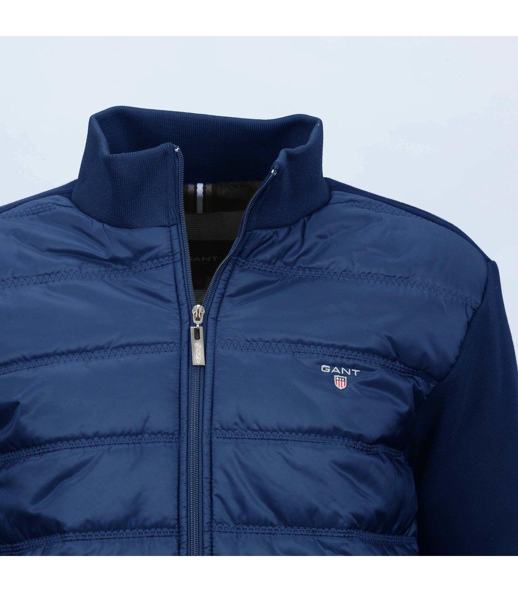 Тёмно-синяя комбинированная куртка Gant KG1