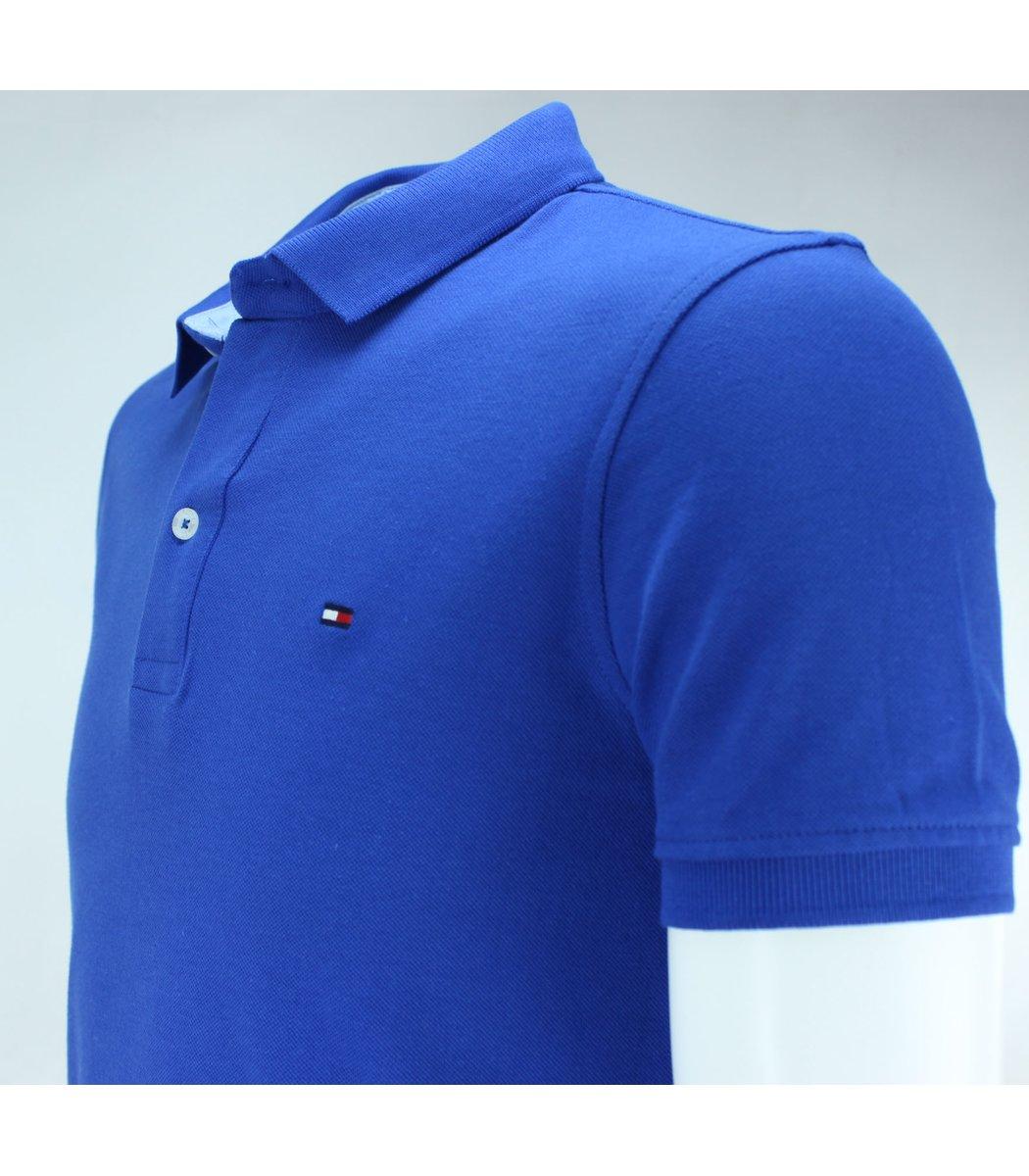 Сапфировая футболка поло Tommy Hilfiger T3