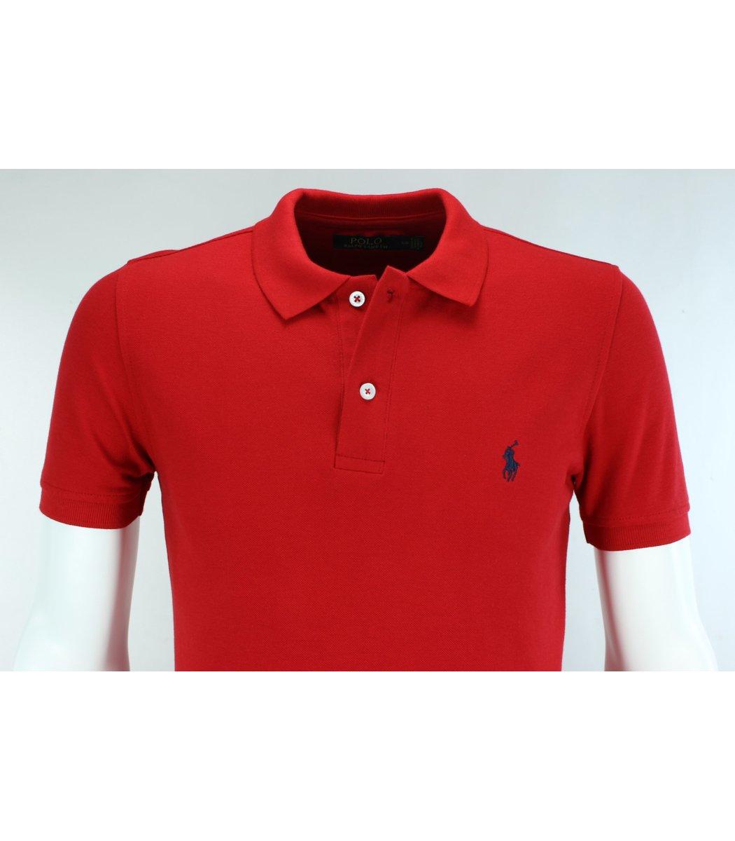 Красная футболка поло Ralph Lauren R1