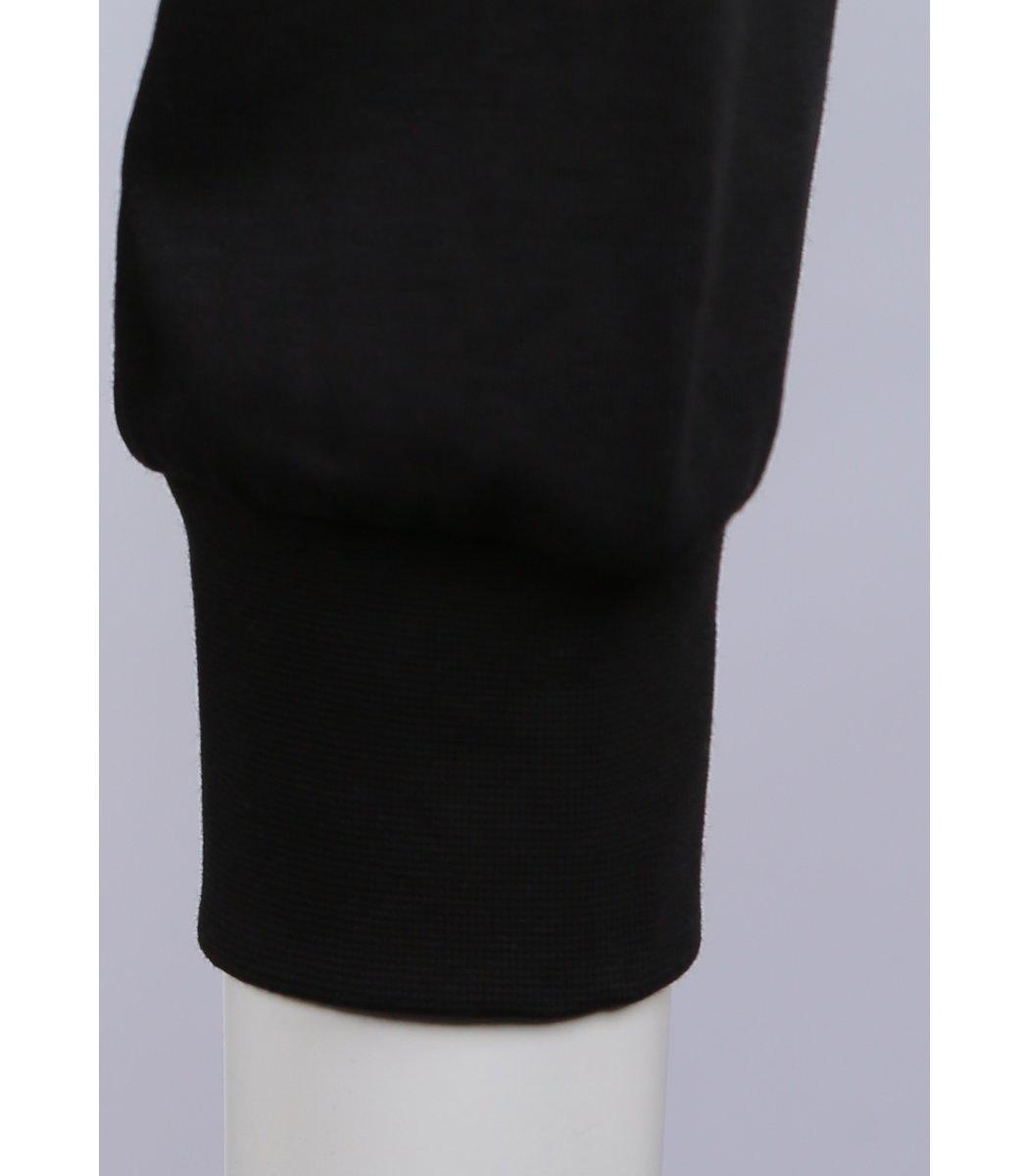 Чёрное поло с длинным рукавом EA7 PA1