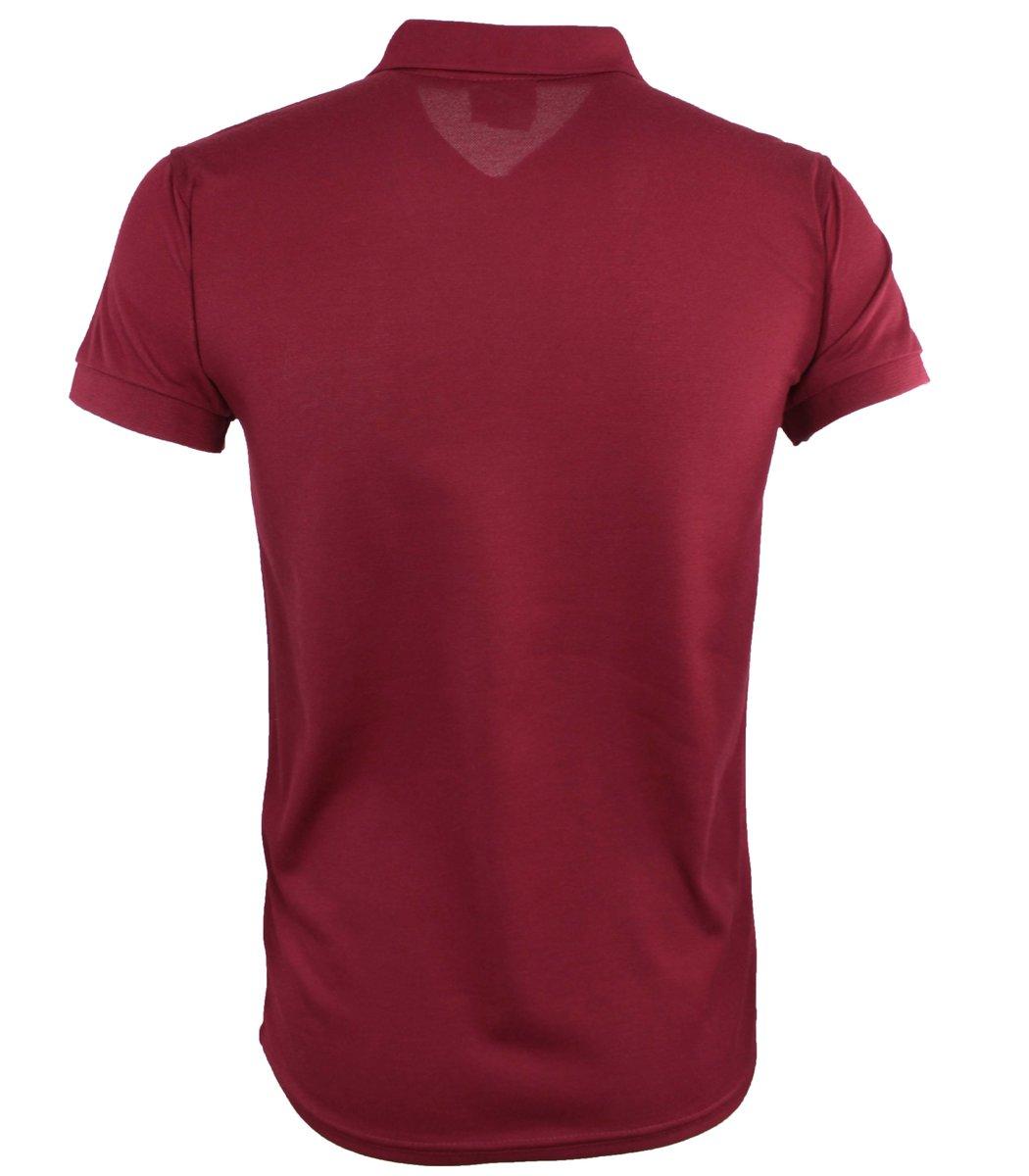Бордовая футболка поло Lacoste FR