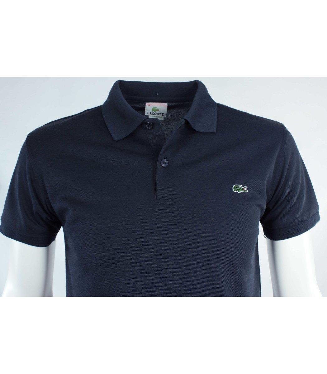 Тёмно-синяя футболка поло Lacoste FR