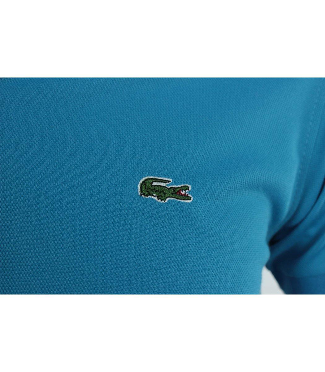 Голубая футболка поло Lacoste FR