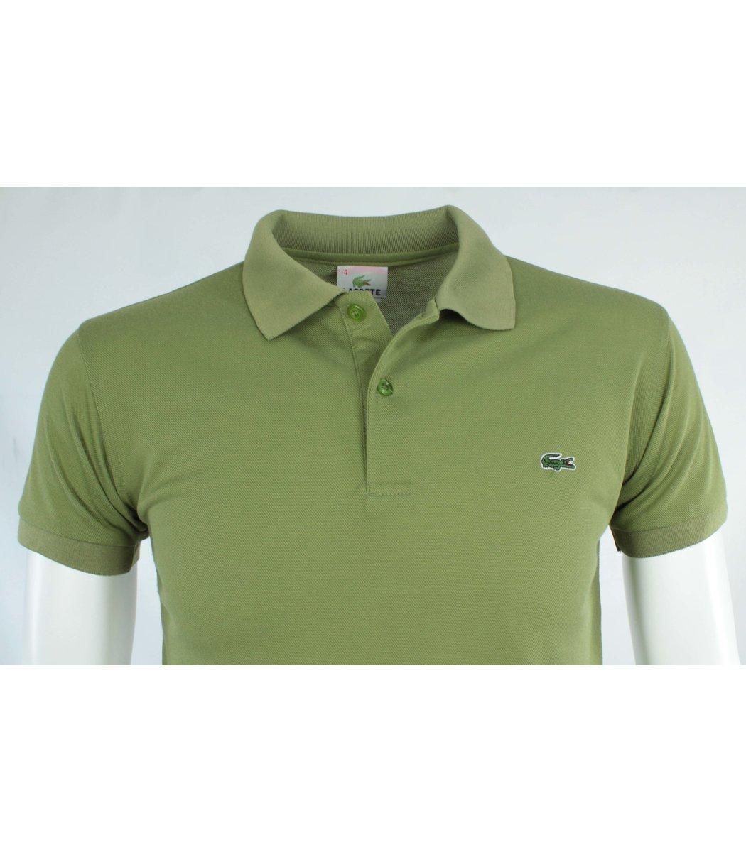 Оливковая футболка поло Lacoste FR