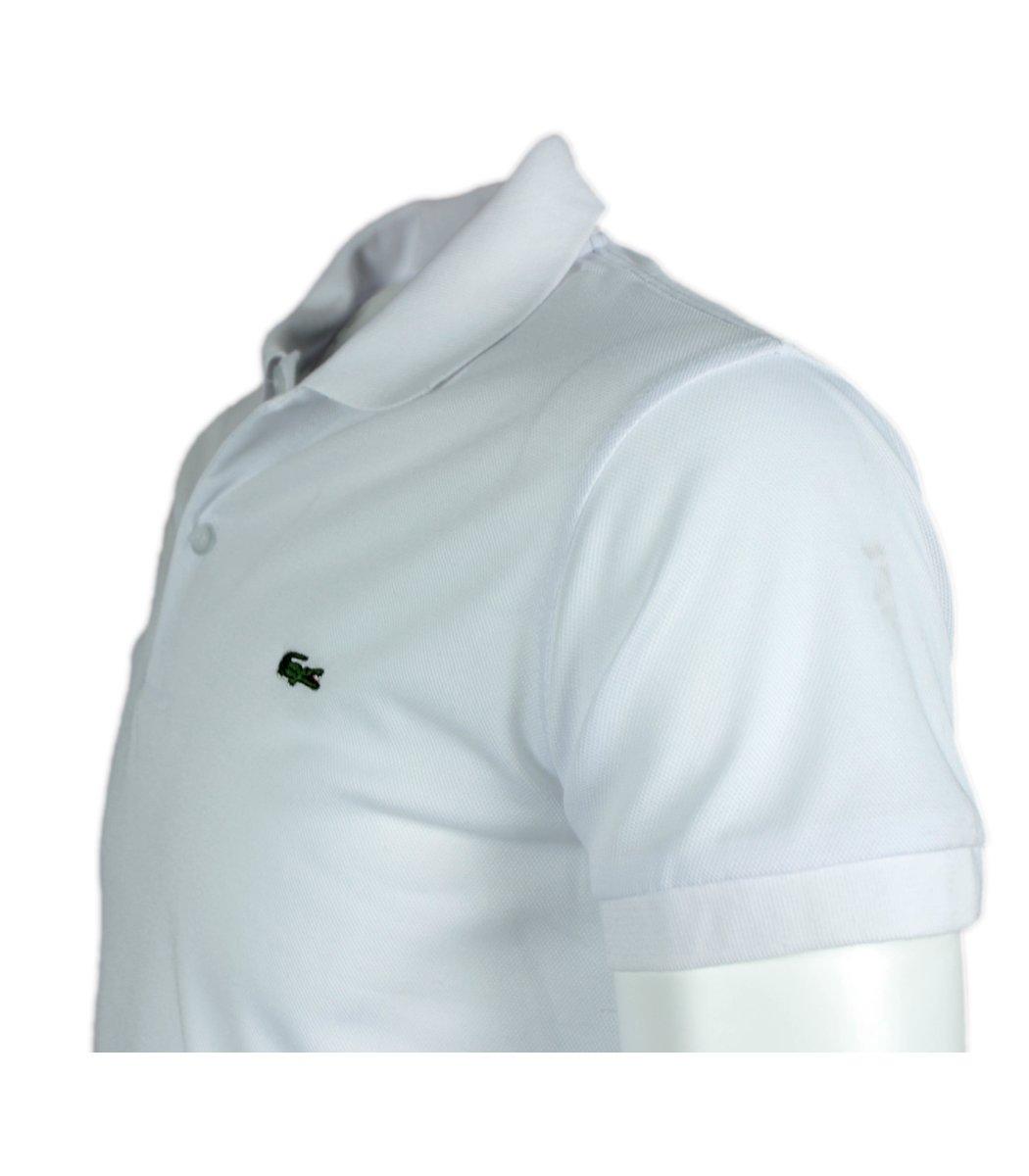 Белая футболка поло Lacoste FR