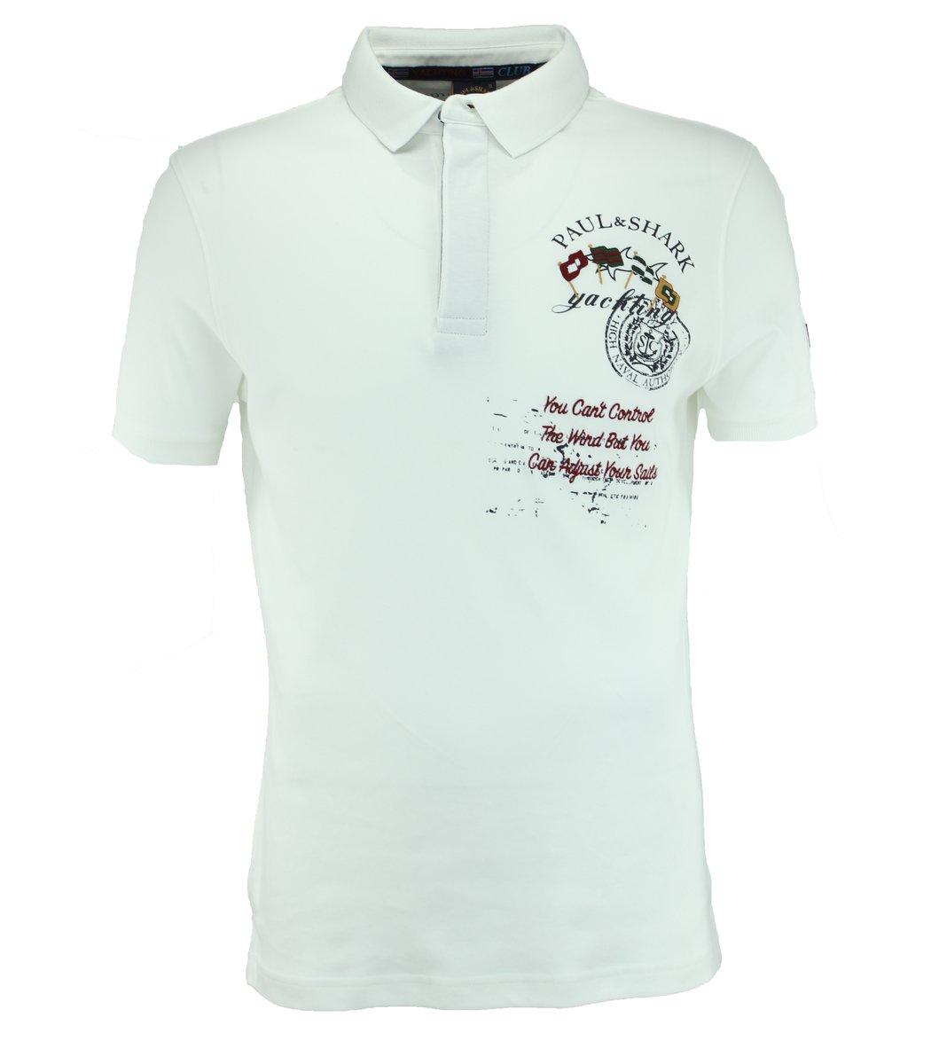 Белая футболка поло Paul&Shark F1
