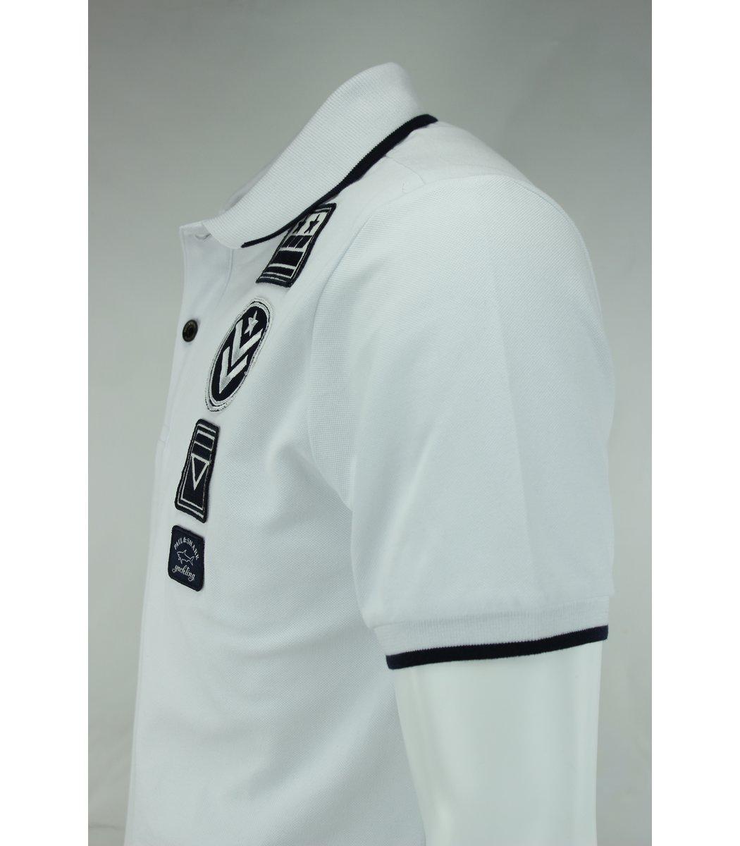 Белая футболка поло Paul&Shark ARMY