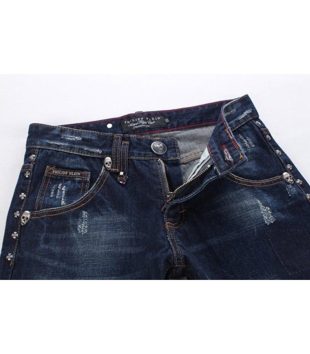 Темно-синие джинсы Philipp Plein 0137