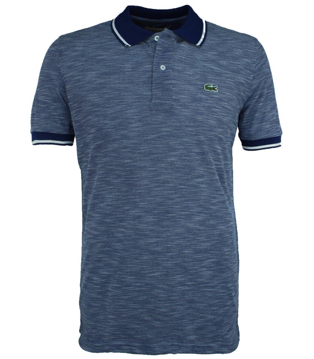 Тёмно-синяя футболка поло Lacoste L2