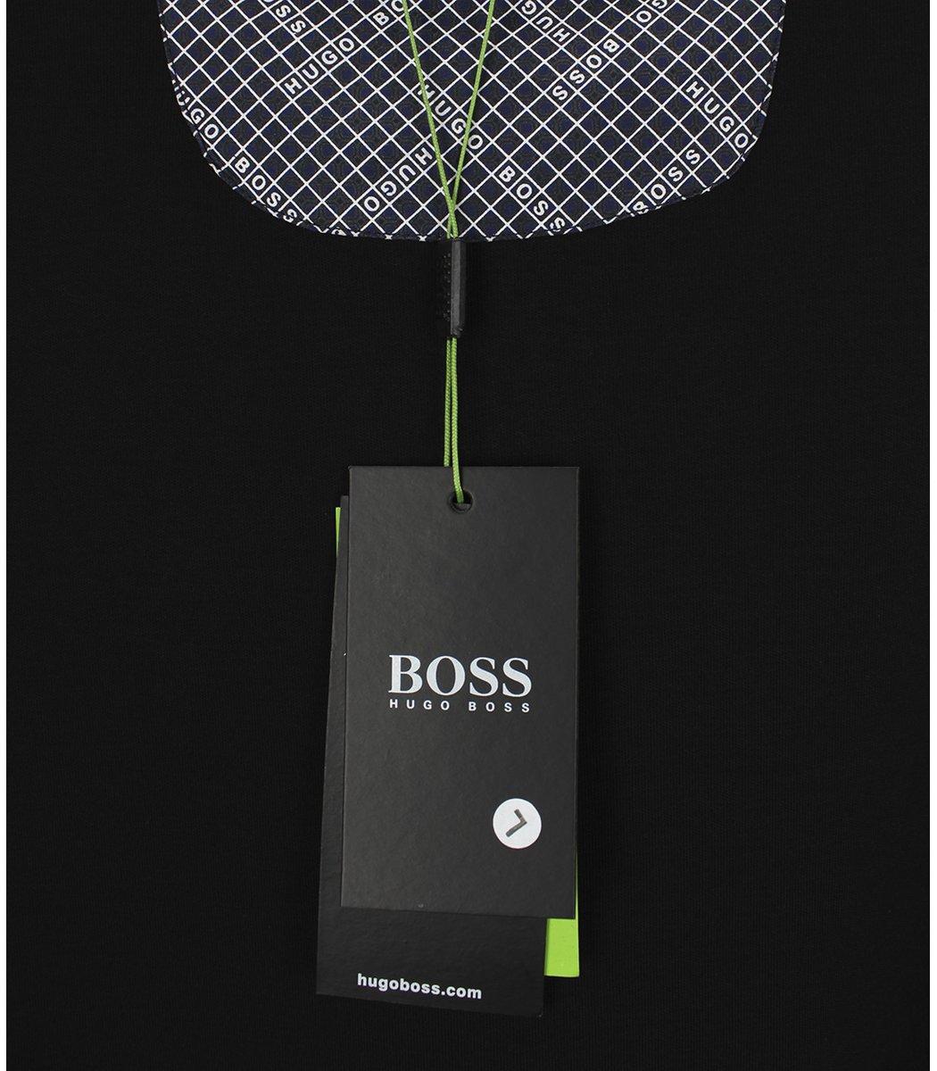Черное поло с длинным рукавом Hugo Boss PB1
