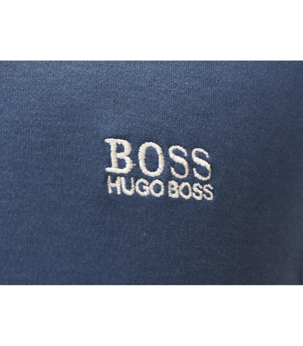 Синее поло с длинным рукавом Hugo Boss PB1