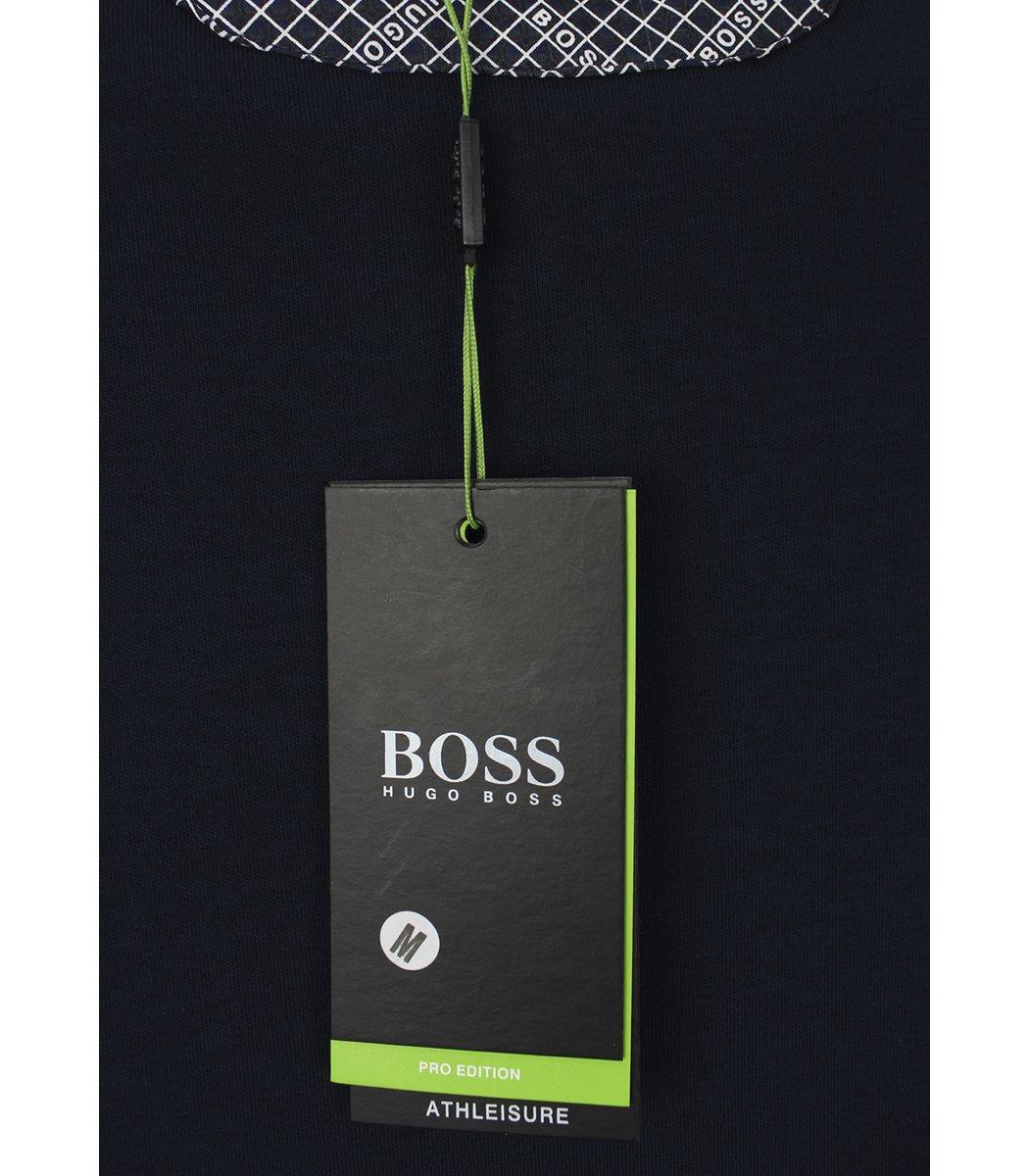 Темно-синее поло с длинным рукавом Hugo Boss PB1
