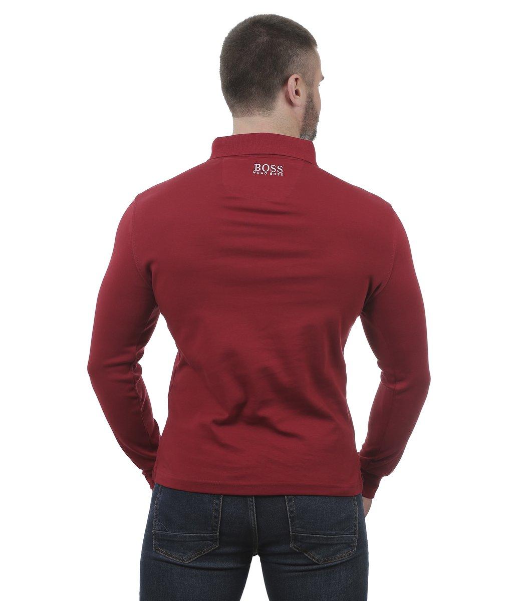 Красное поло с длинным рукавом Hugo Boss PB1