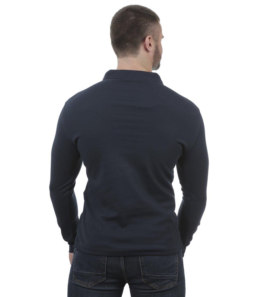 Темно-синее поло с длинным рукавом Hugo Boss PB2