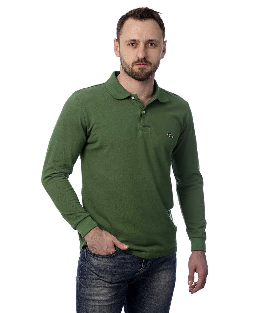 Поло с длинным рукавом Lacoste Classic (Темно-зеленый)