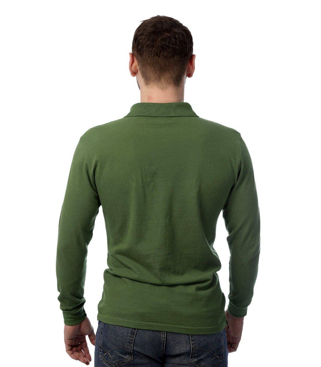 Поло с длинным рукавом Lacoste Classic (Темно-зеленый) - Темно зеленый - Вид 5