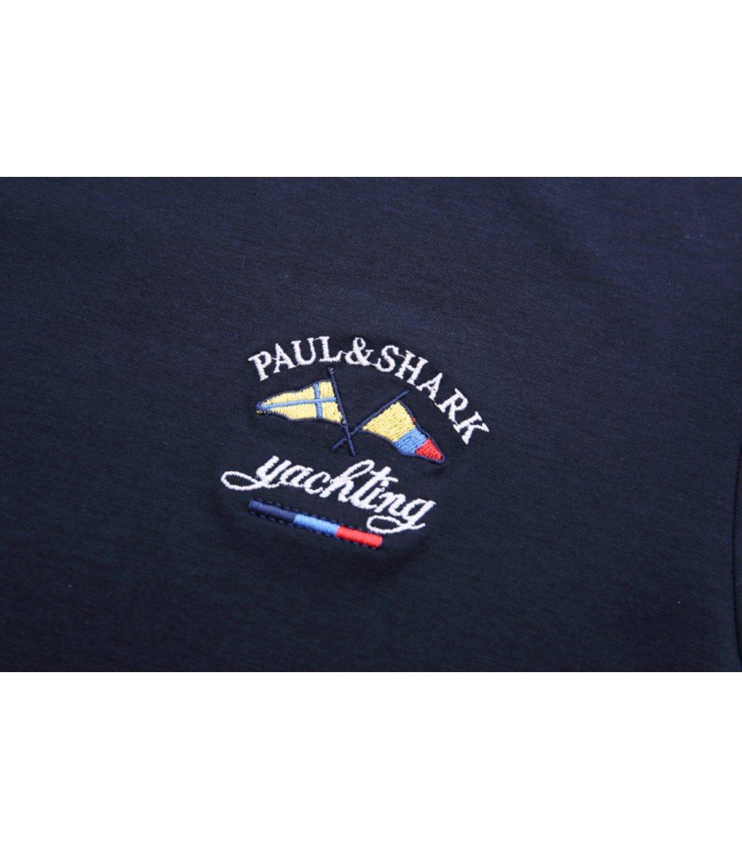 Темно-синий лонгслив Paul&Shark LP3