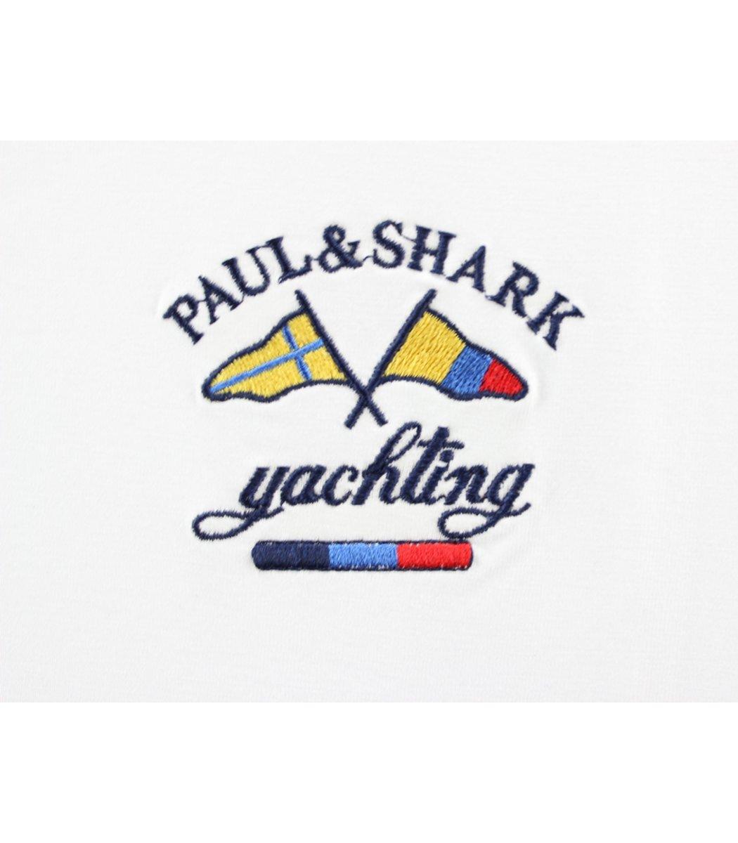 Белый лонгслив Paul&Shark LP3