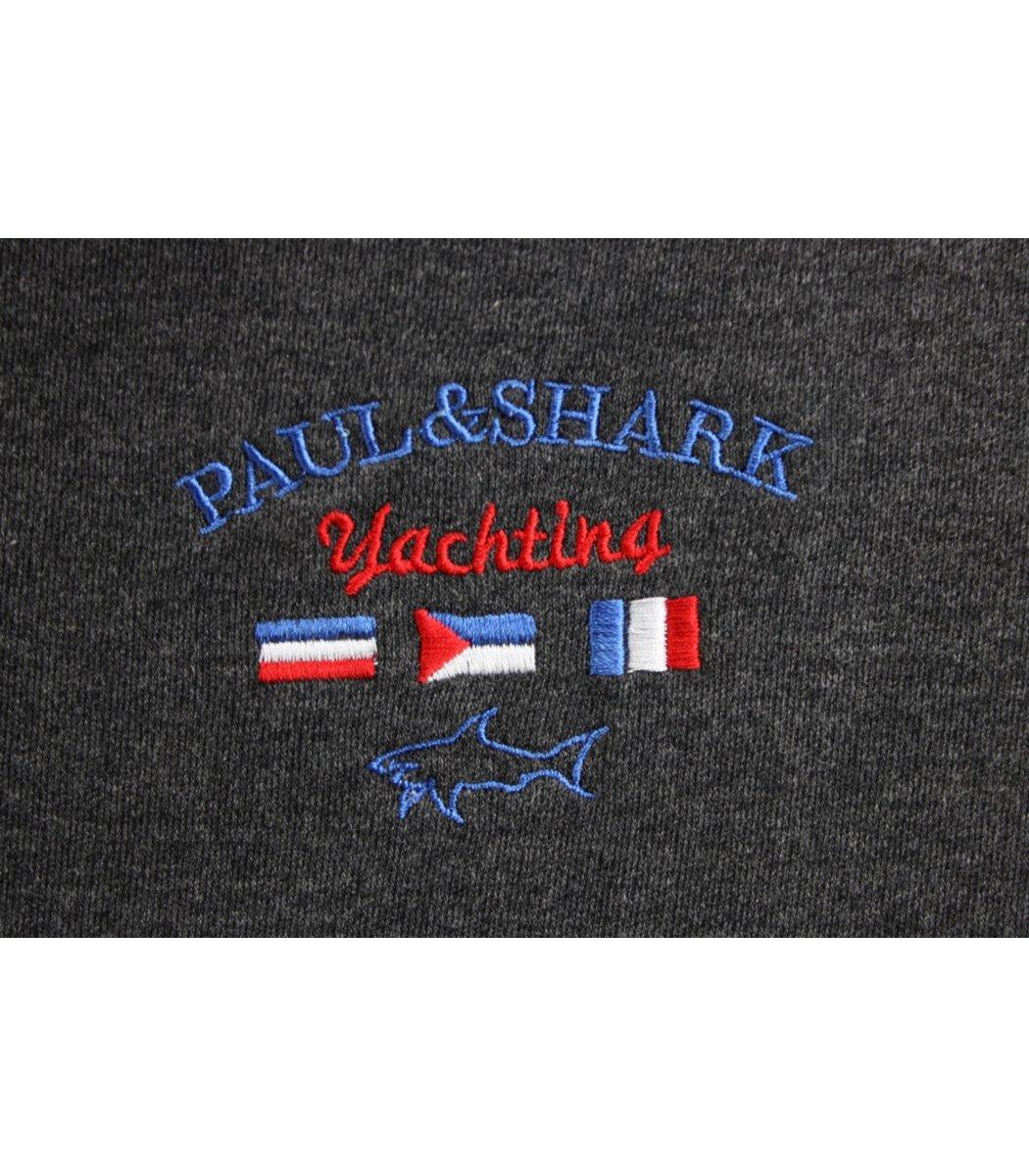 Серое поло с длинным рукавом Paul&Shark PN2