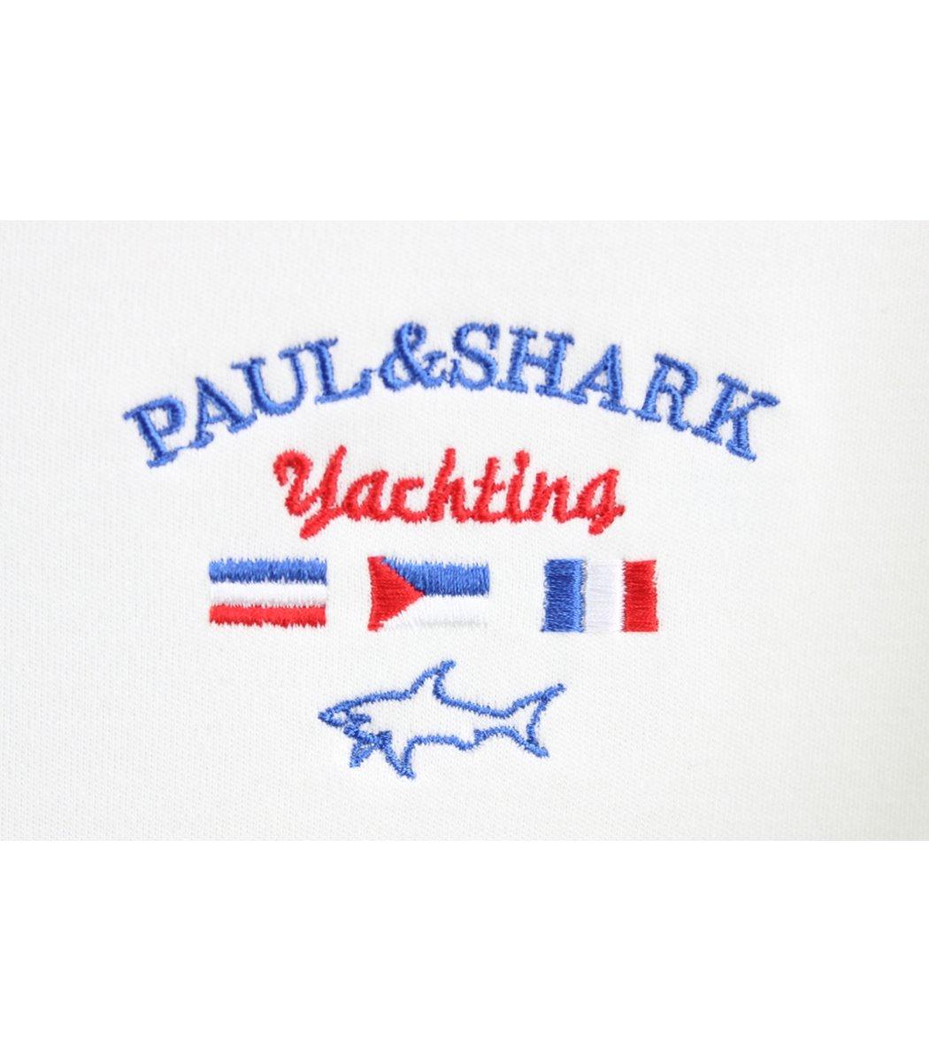 Белое поло с длинным рукавом Paul&Shark PN2