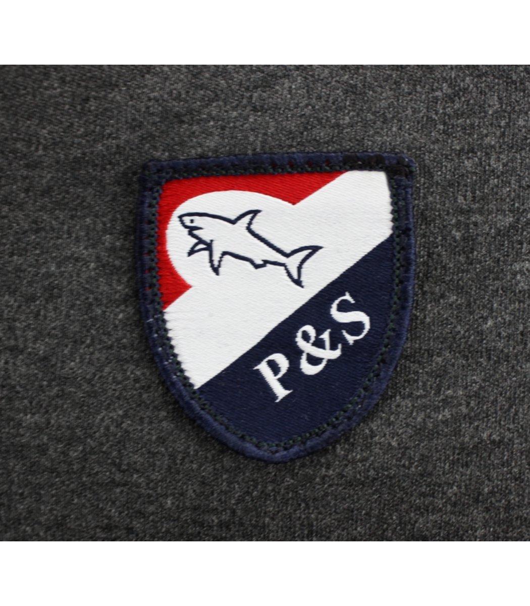Серое поло с длинным рукавом Paul&Shark PN3