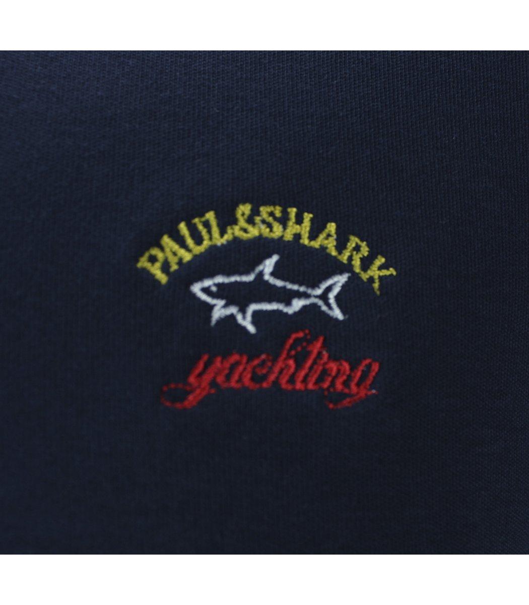 Темно-синее поло с длинным рукавом Paul&Shark PT1