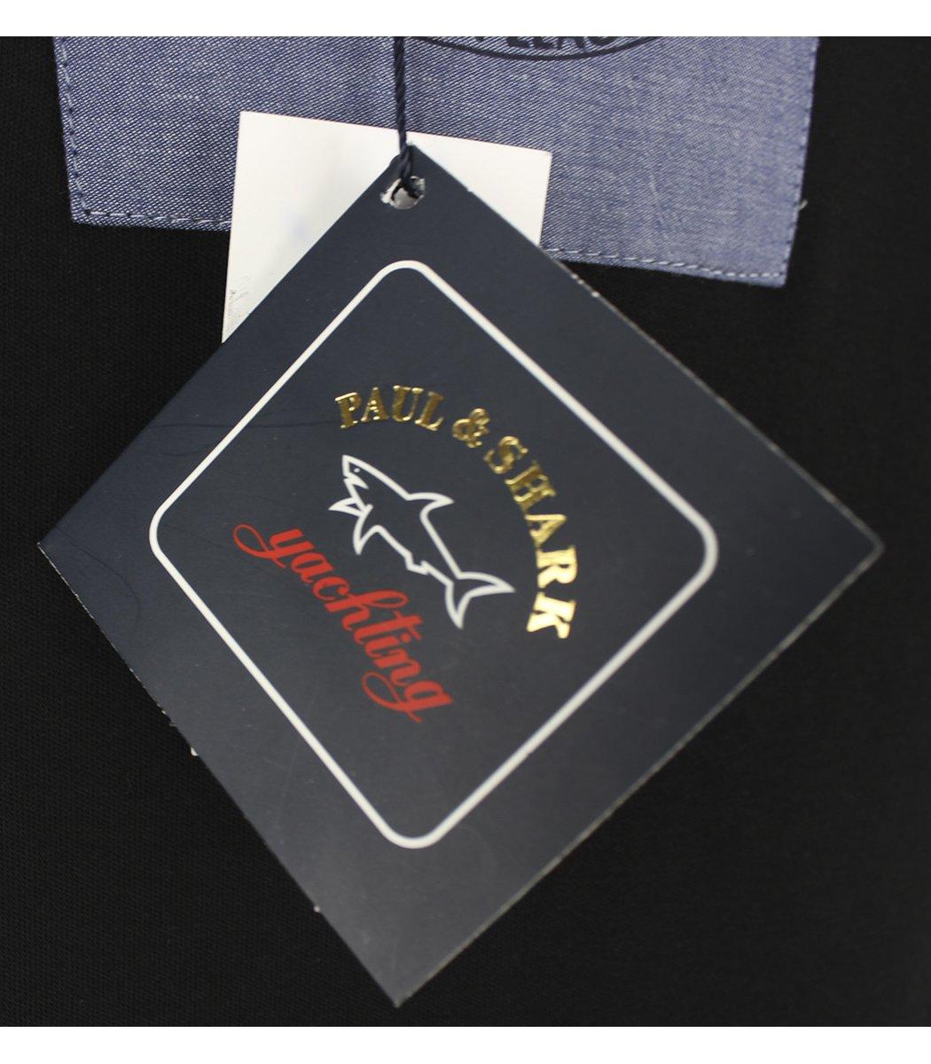 Черное поло с длинным рукавом Paul&Shark PT2