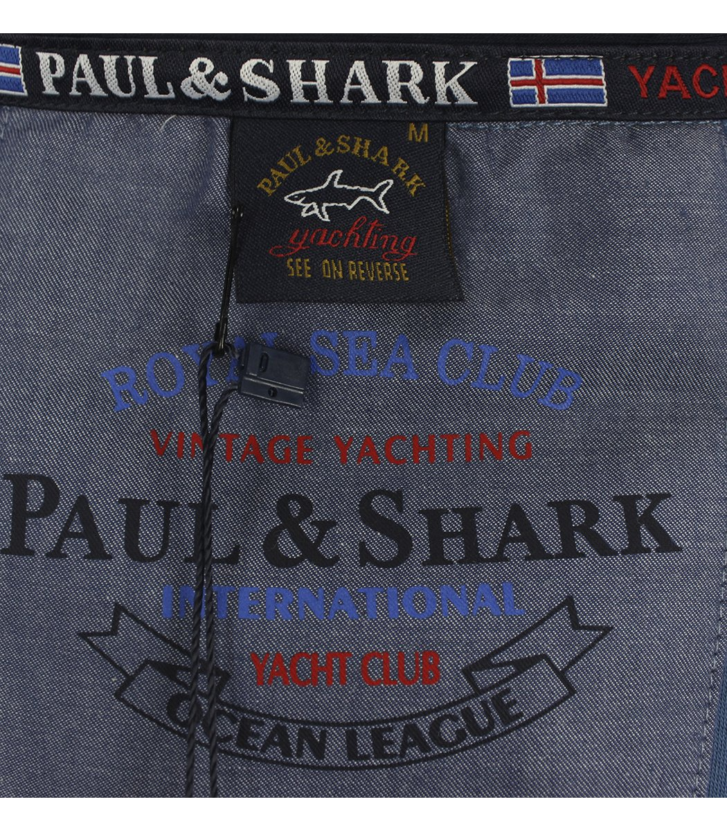 Синее поло с длинным рукавом Paul&Shark PT2
