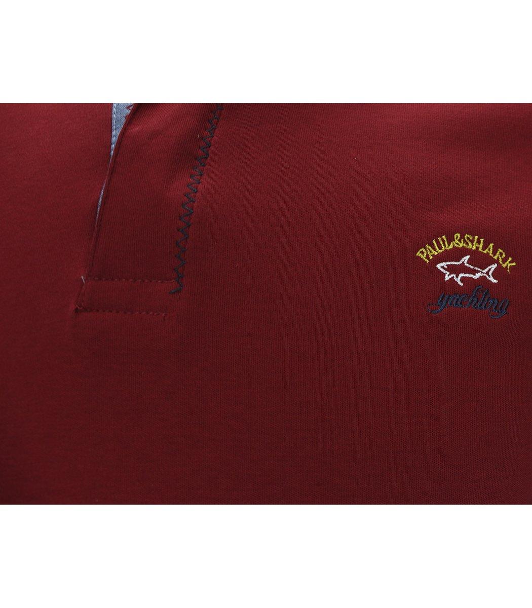 Красное поло с длинным рукавом Paul&Shark PT2