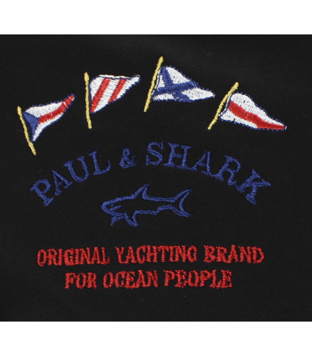 Черное поло с длинным рукавом Paul&Shark PT3