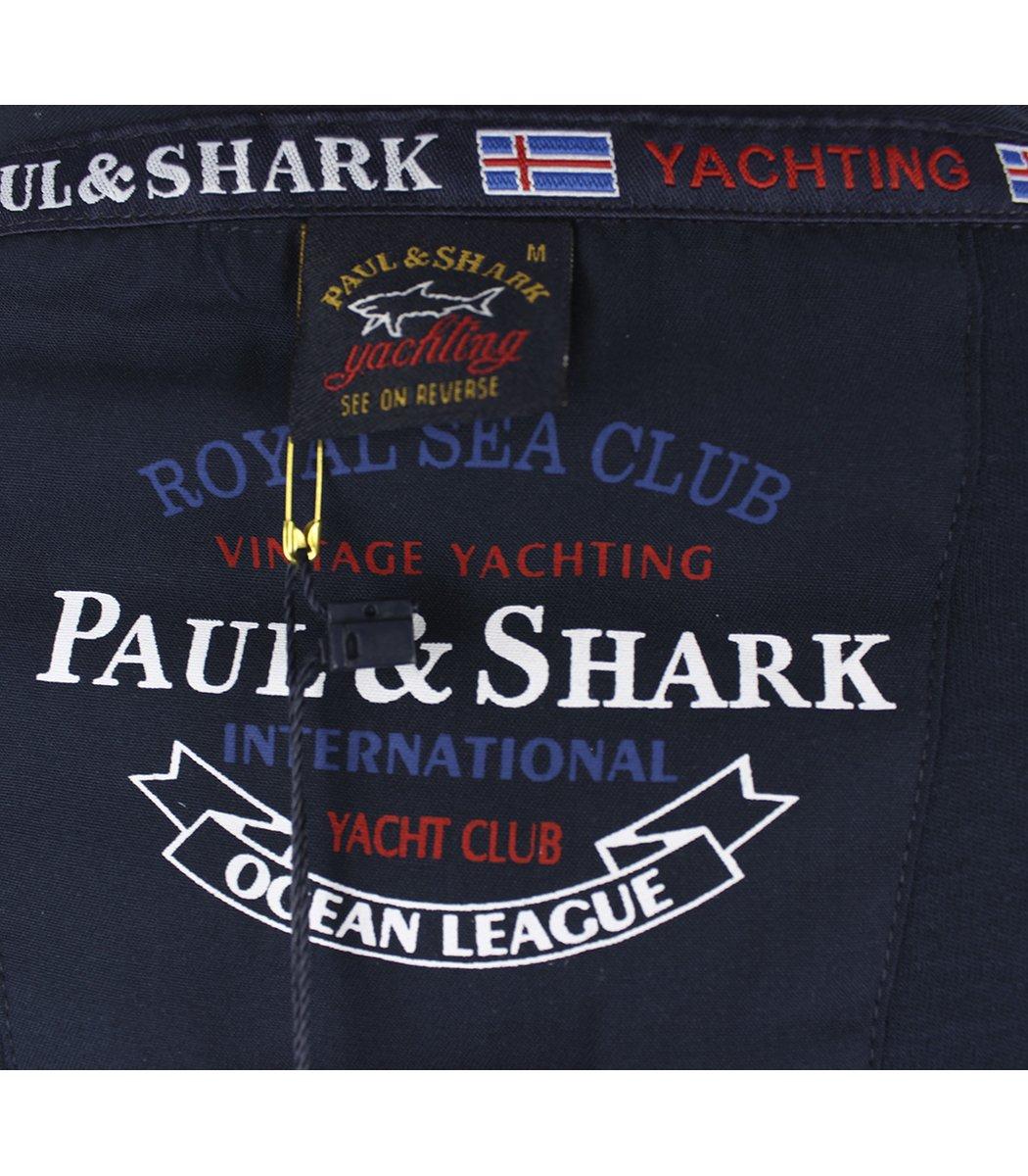 Темно-синее поло с длинным рукавом Paul&Shark PT3