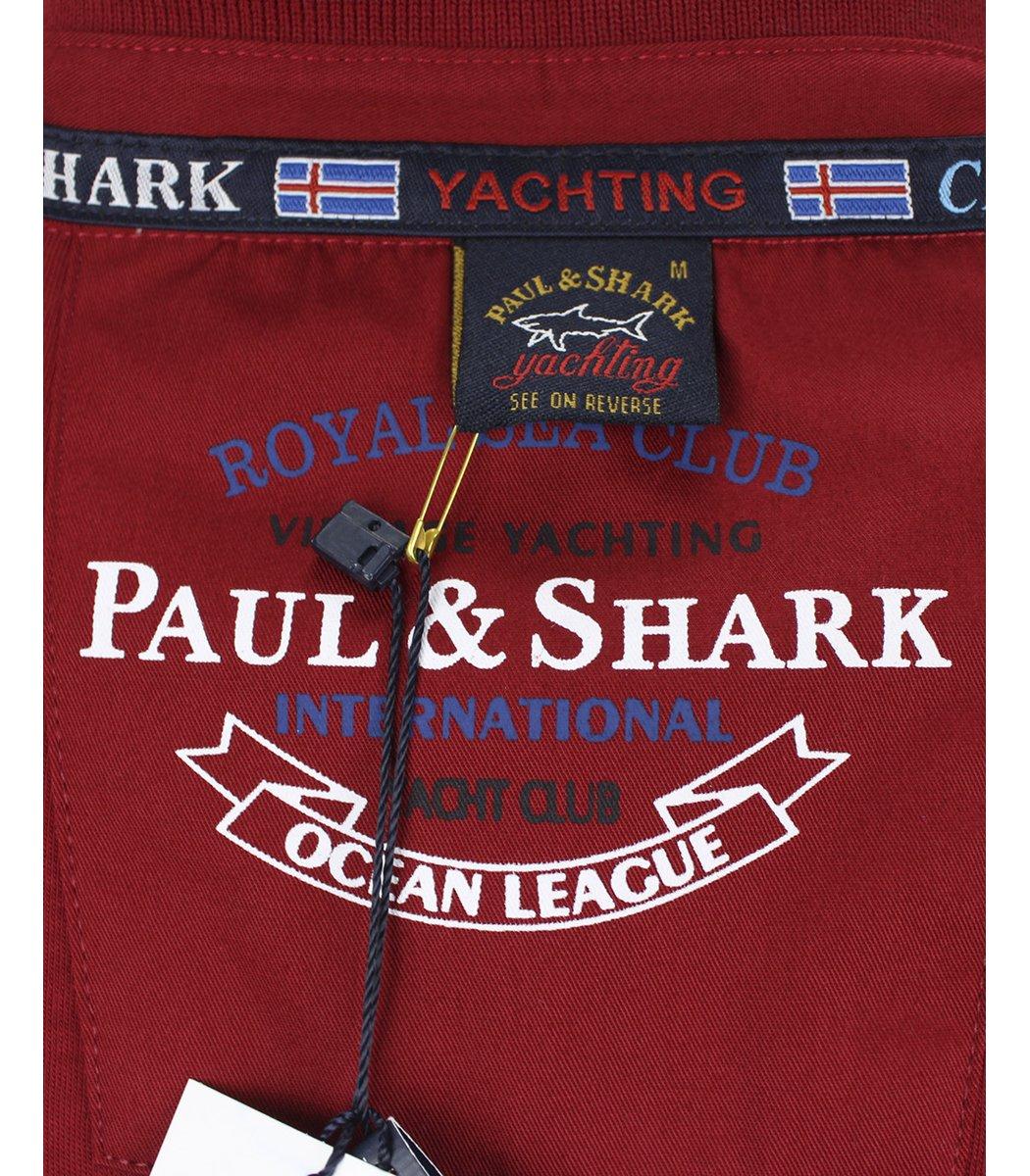 Красное поло с длинным рукавом Paul&Shark PT3