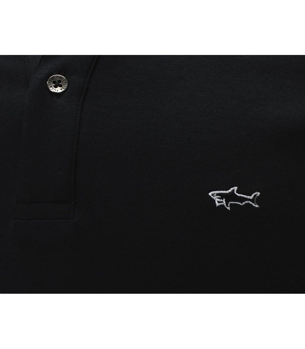Черное поло с длинным рукавом Paul&Shark PT4