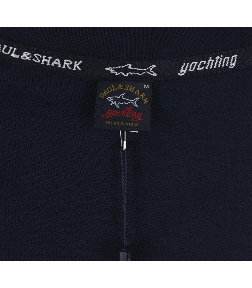 Темно-синее поло с длинным рукавом Paul&Shark PT4