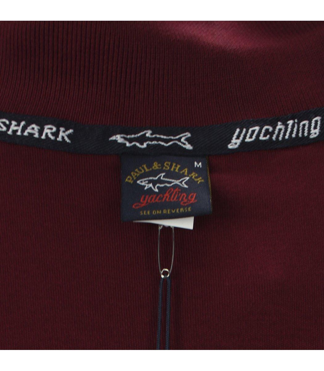 Красное поло с длинным рукавом Paul&Shark PT4