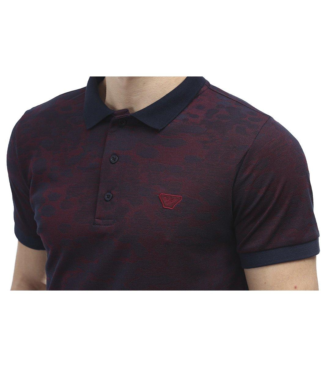Красная футболка поло Giorgio Armani A1