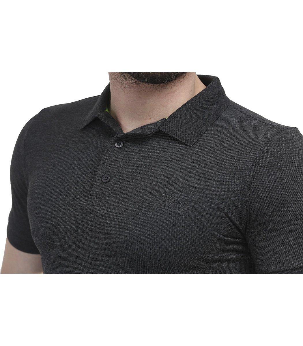 Классическая темно-серая футболка поло Hugo Boss