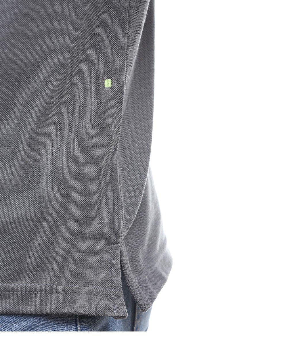 Классическая серая футболка поло Hugo Boss