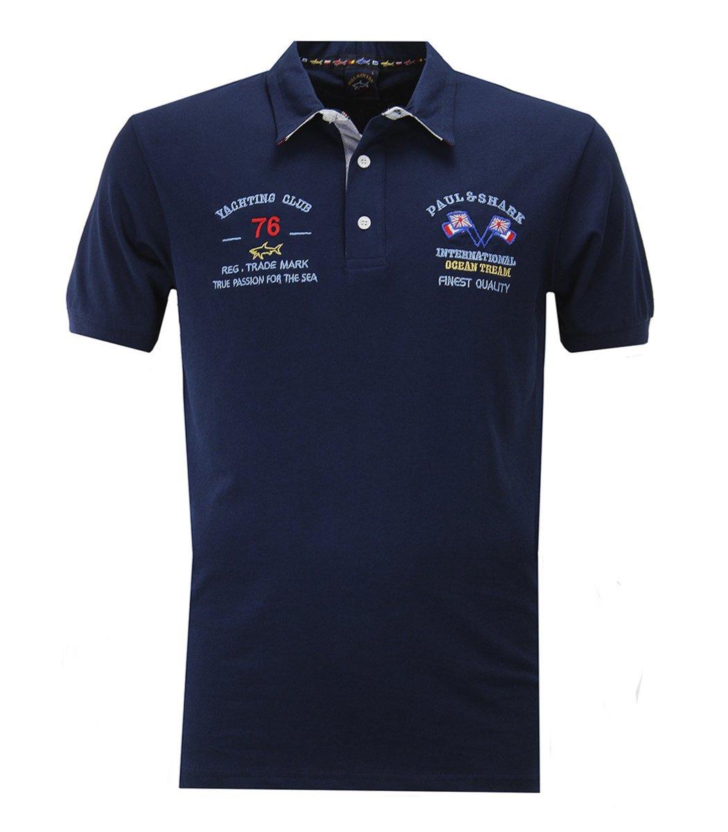 Темно-синяя футболка поло Paul&Shark 76