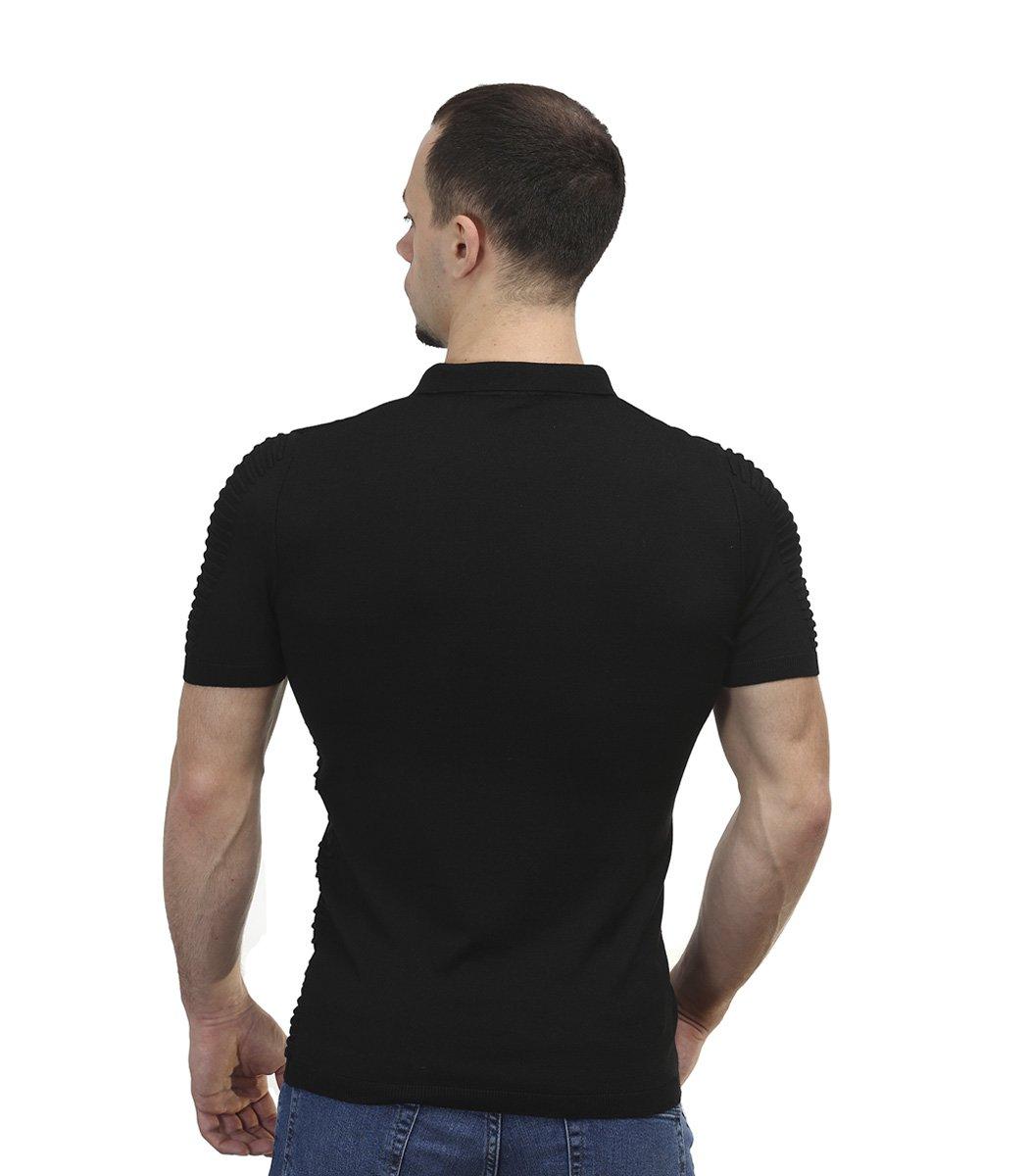 Черная футболка поло Ralph Lauren с драпировкой R9