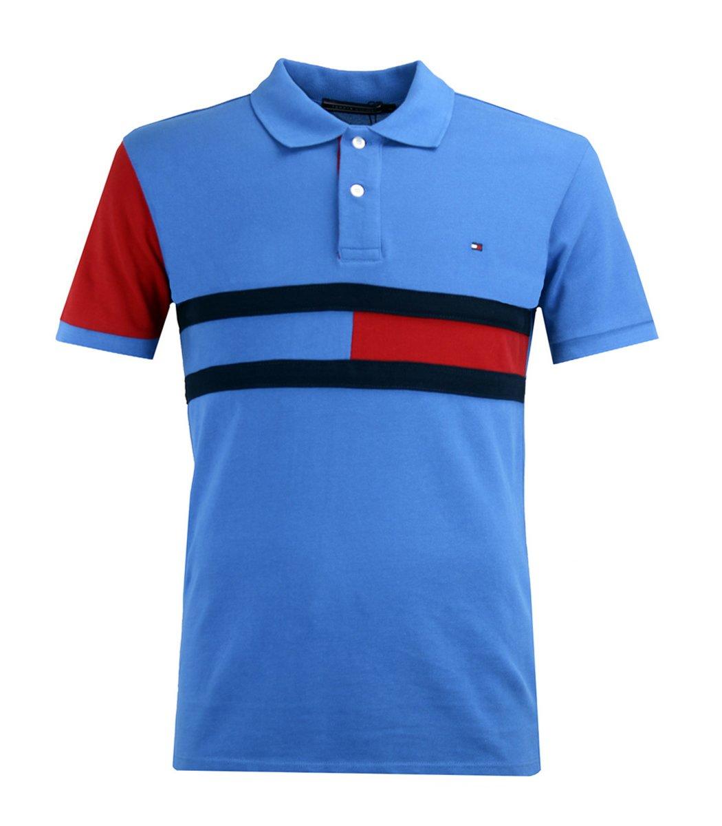 Голубая футболка поло Tommy Hilfiger
