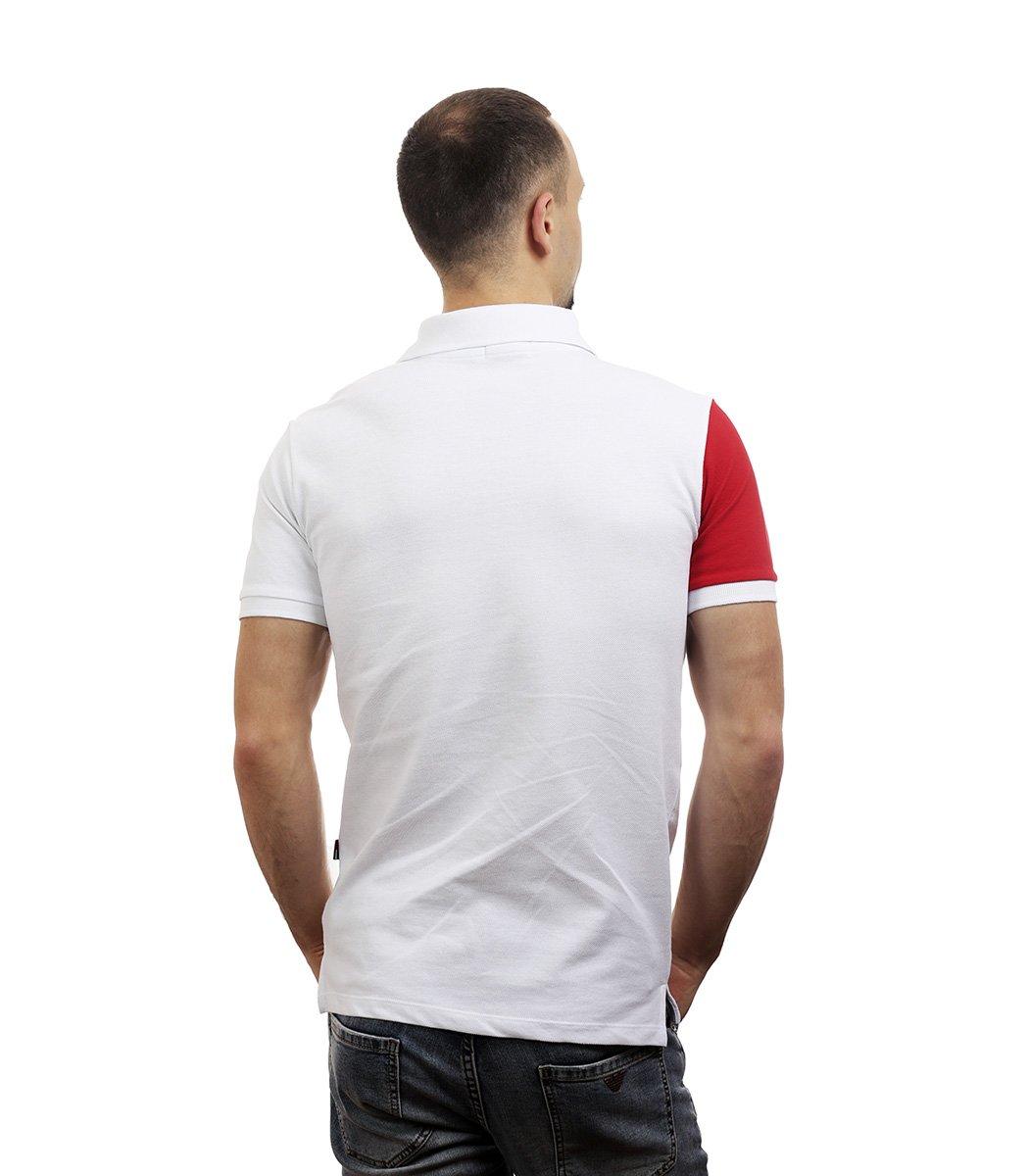 Белая футболка поло Tommy Hilfiger - Белый/красный - Вид 5
