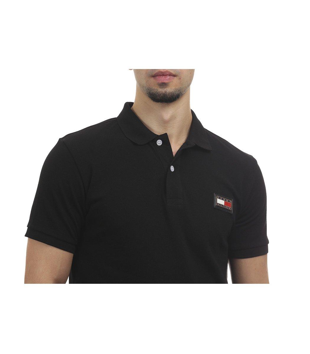 Черная футболка поло Tommy Hilfiger - Черный - Вид 3