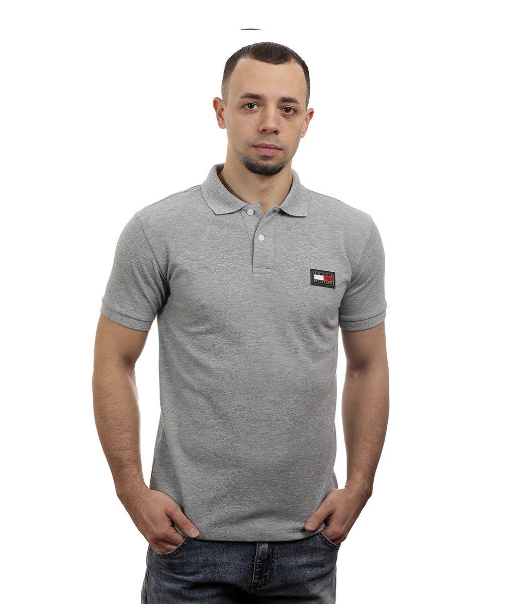 Серая футболка поло Tommy Hilfiger - Серый - Вид 3