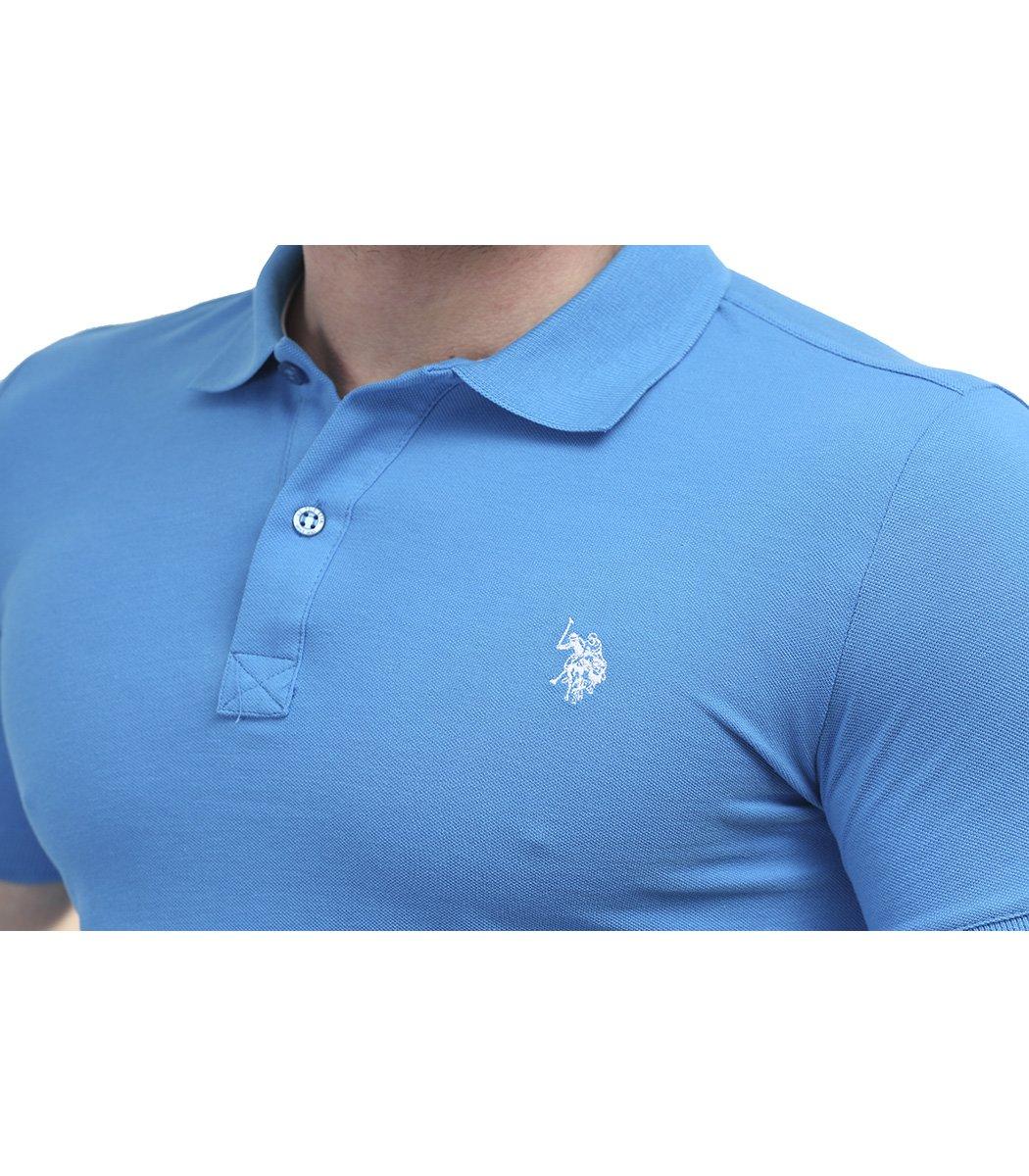 Голубая футболка поло U.S.Polo ASSN U1