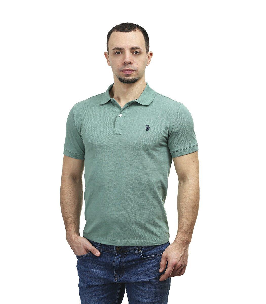 Мятная футболка поло U.S.Polo ASSN U1
