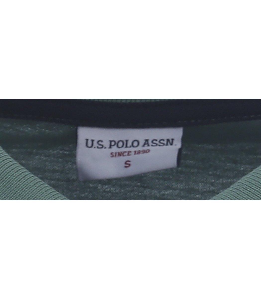Мятная футболка поло U.S.Polo ASSN U1 - Мятный - Вид 4