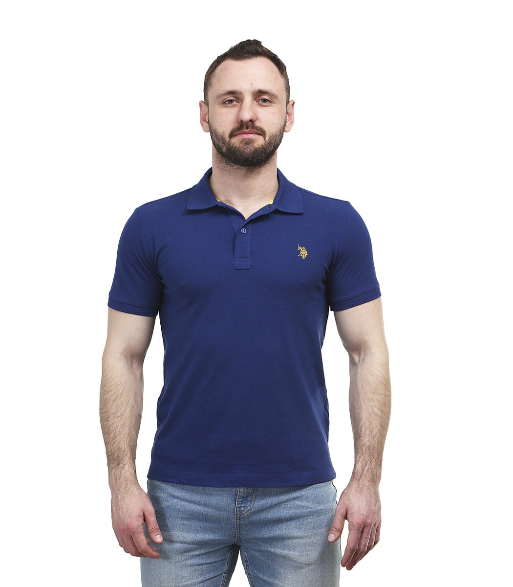 Cиняя футболка поло U.S.Polo ASSN U1