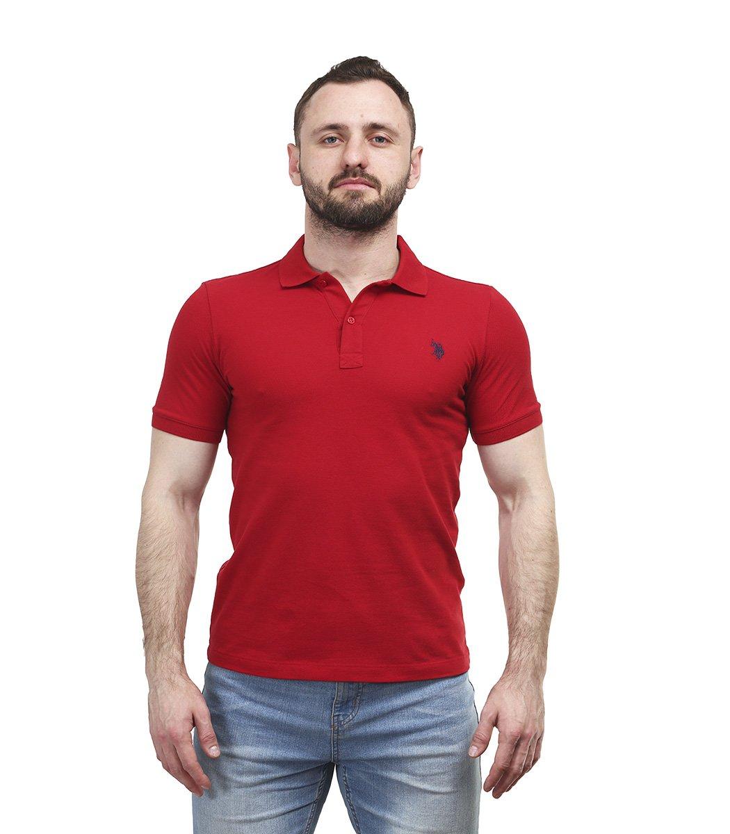 Красная футболка поло U.S.Polo ASSN U1 - Красный - Вид 2