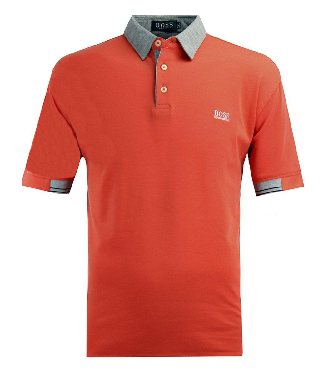 Оранжевая футболка поло Hugo Boss